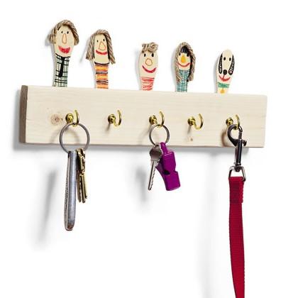 Крючки для ключей своими руками
