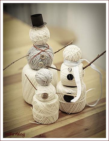 Как сделать новогоднюю игрушку снеговика своими руками